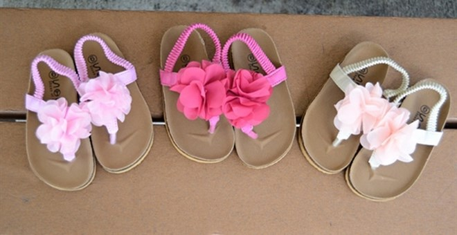 Infant Cork Flower Sandals - 3 Colors !