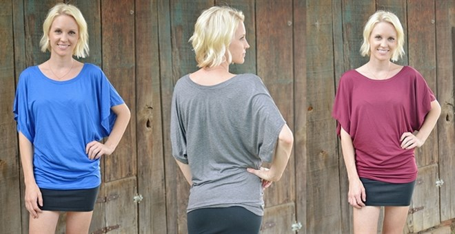 Draped Sleeve Dolman – 12 Fabulous Colors!