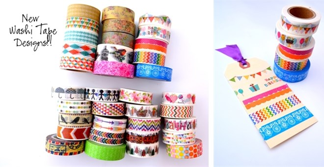 NEW DESIGNS ADDED!! Washi Tape Favorites!!