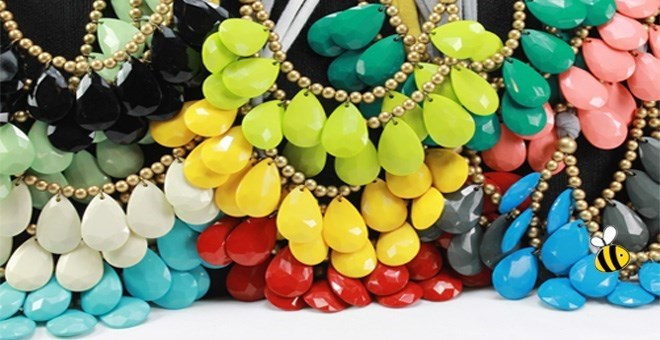 Designer Inspired Briolette Necklace - 14 Colors