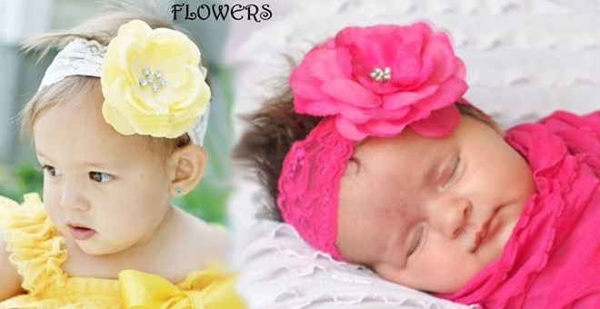 Clearance! Rhinestone Flower Headbands & Clips