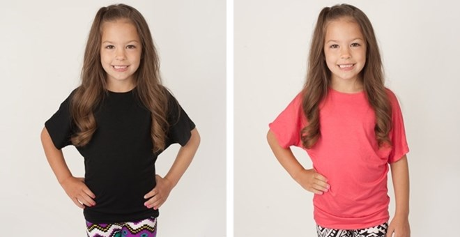 Kids Dolman tops - 12 colors!  Sizes 4-14