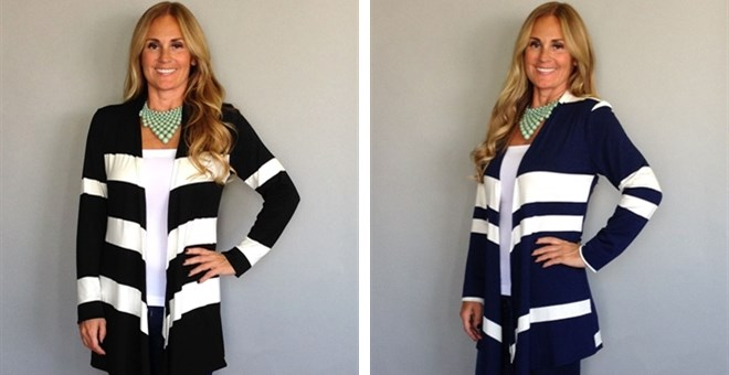 Bold Striped Cardigan in 4 Colors!