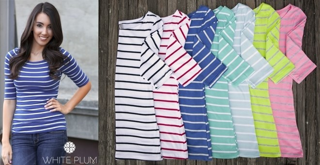 Stripes Ahoy Tee! 7 Colors!