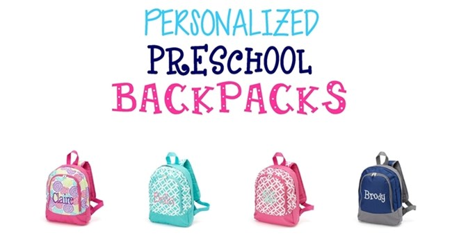 Personalized Preschool Back Packs