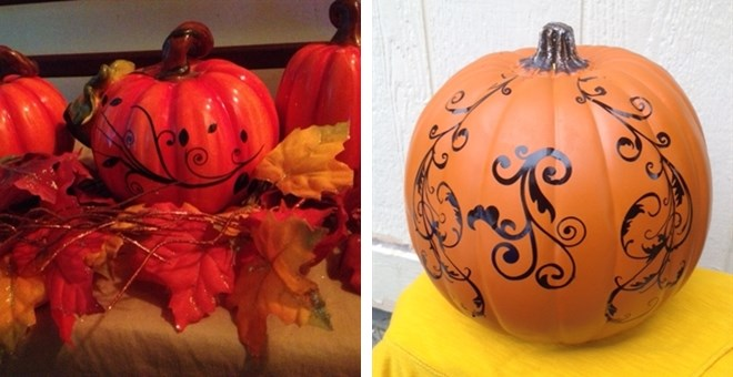 No Carve Swirls and Dots and Flourish Pumpkin Decals