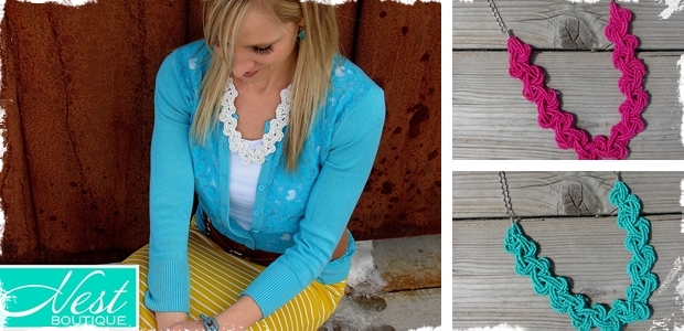 Knotted Bead Necklace-6 Colors!