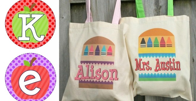 Personalized Back to School Iron-on Transfers