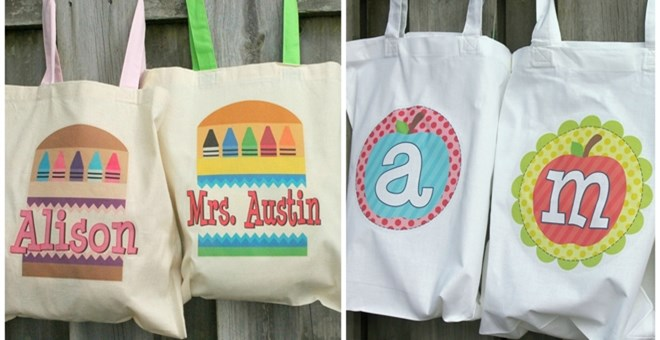 Personalized Back to School Tote Bags