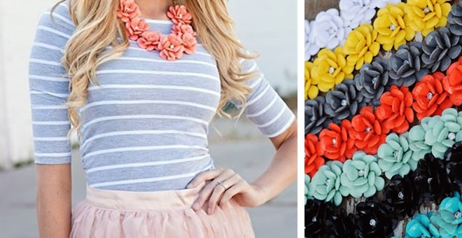 Flower Lei Statement Necklace - 8 colors!