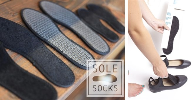 Sole-Socks, the simple sock alternative