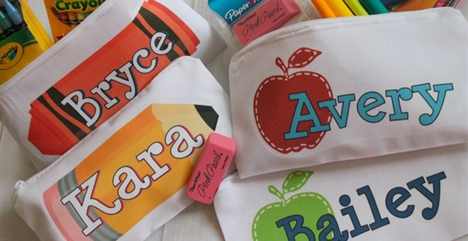 Personalized Pencil Bags - 8 Designs!