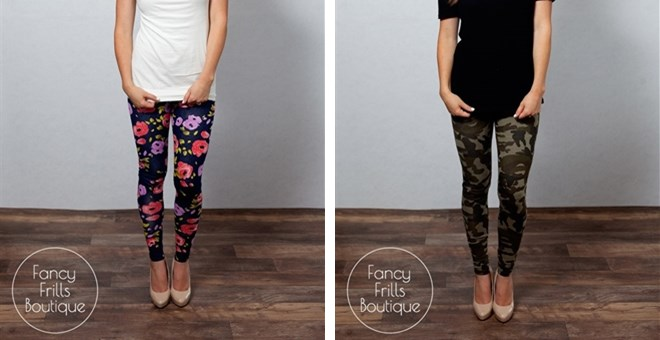Back To School Leggings- Camo and Floral Print!