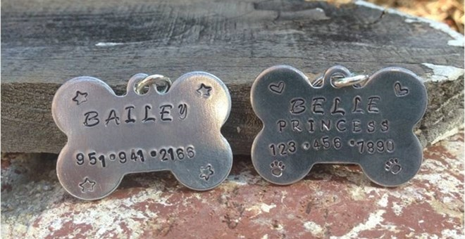 Personalized Silver Dog ID Tag