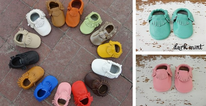 Baby Leather Moccassins, Baby Moccs 28 colors custom sizes 0-24 months