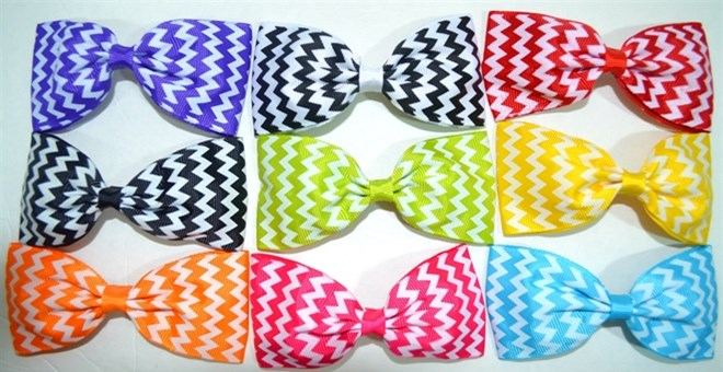 Back To School Chevron Hair Bows!