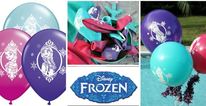 Frozen Set of 5 Balloons