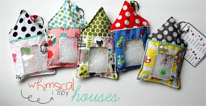 "Whimsical  ""welcome home"" mini ispy houses!"