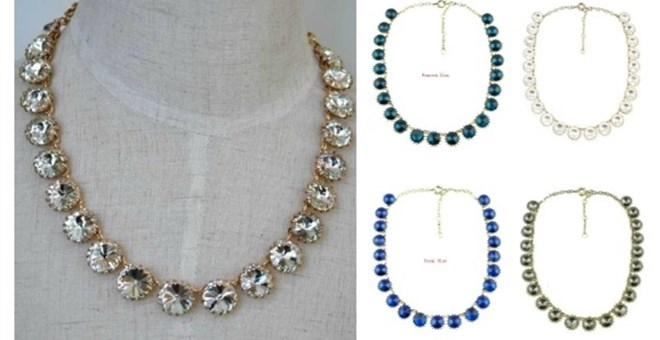 Stunning! Crystal Drop Necklace (Blow Out)