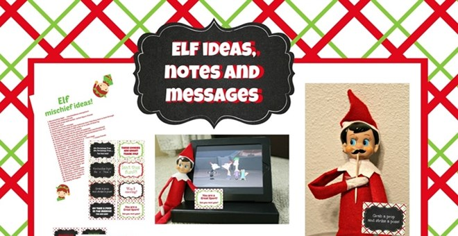 Printable Elf Prank Ideas, notes, messages and photo booth props!