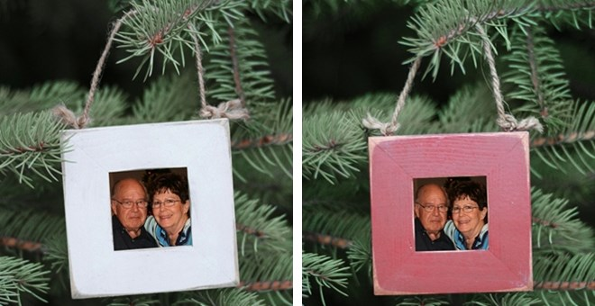 Christmas Tree Ornaments Picture Frames : Christmas tree ornament picture frame