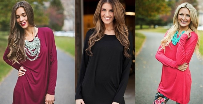 *HOT* Over-Size Fall Tunic Top...