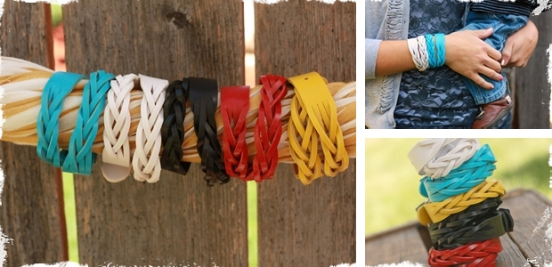 Braided Leather Wrap Bracelets in Fun Summer Colors!
