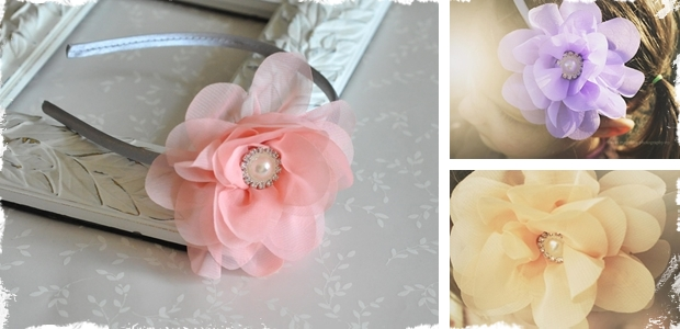 Elegant Chiffon Flower Headband – 5 Colors!