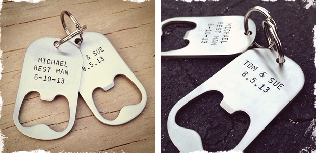 Personalized Key Chain Bottle Openers-Set of 4!