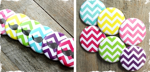 Super Fun!  Pocket Mirrors – Chevron Classic or Mustache Quirky!