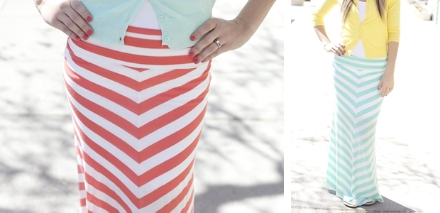 Chevron Maxi Skirt!