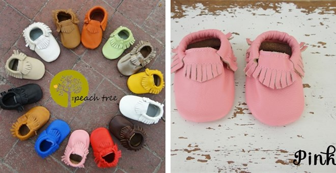 *HOT* Baby Leather Moccassins,...