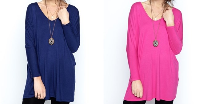 *HOT* Jersey V-Neck Tunic- S-X...