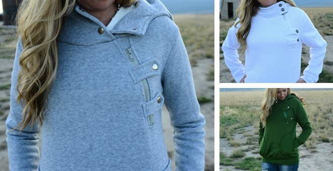 *HOT* Button Hoodies...