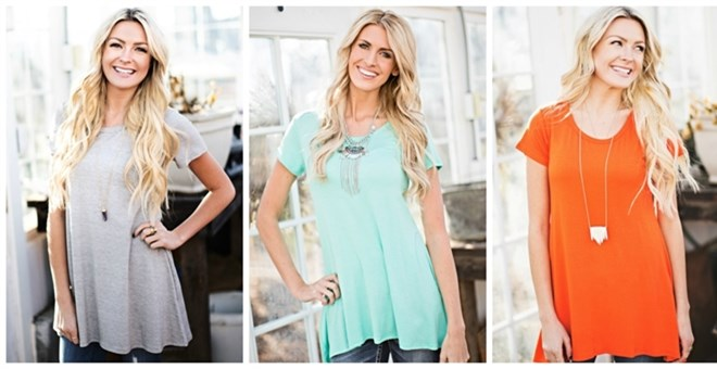 *HOT* Spring Tunic Tee! 10 Col...