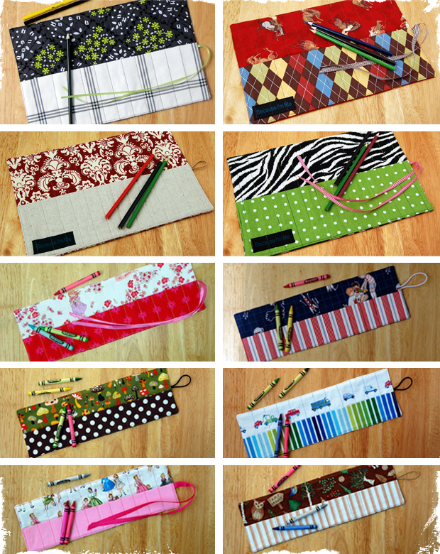 Fun and Creative Crayon & Pencil Roll-Ups - 10 Styles to Choose From!