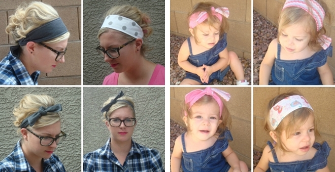 Retro Style Fabric Headbands in 3 sizes!