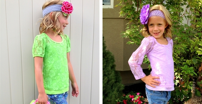 High Quality Lace Short & Long Sleeve Tee & Camisole – Toddlers & Girls!