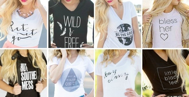 *HOT* Women`s Graphic Tees in.