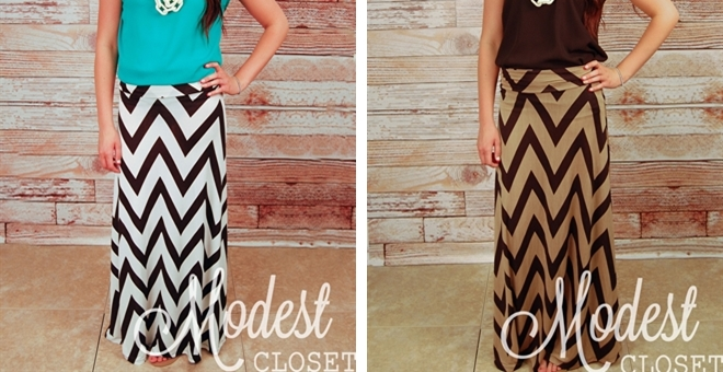 Savannah Chevron Maxi Skirt!