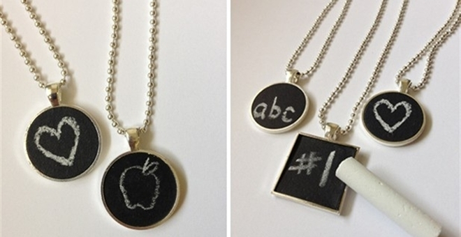 Chalkboard Necklaces! Perfect For Back To School!