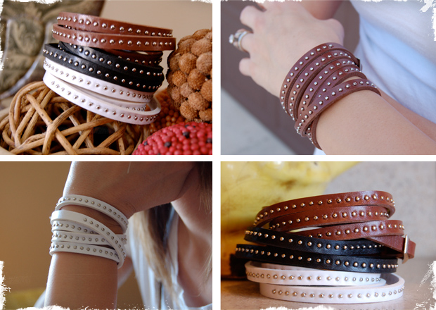 Super Cute Bicast Leather Wrap Bracelets - 3 Colors to Choose From!