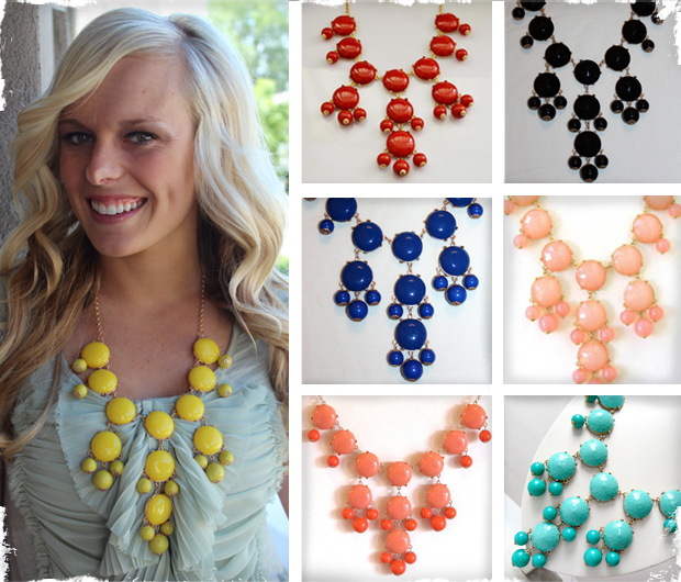 Bubble Bib Necklace - Similar to J. Crew! Available in 8 Colors!