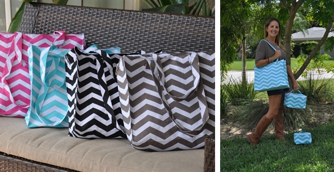 Chevron Totes / Toiletry Bags / Hanging Organizers!