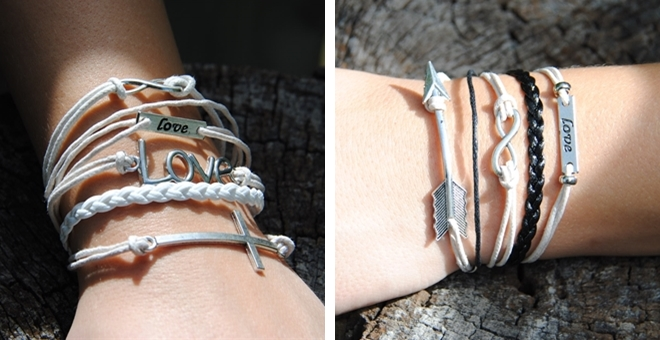 Trendy Stacked Bracelets