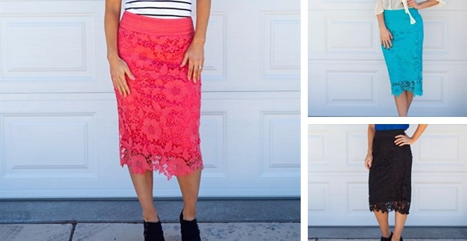 Lace Spring Skirts