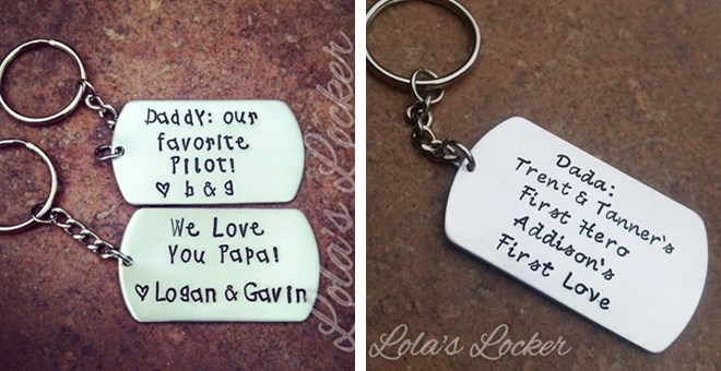 Personalized Key Chain Just for Daddy! With new font choice!