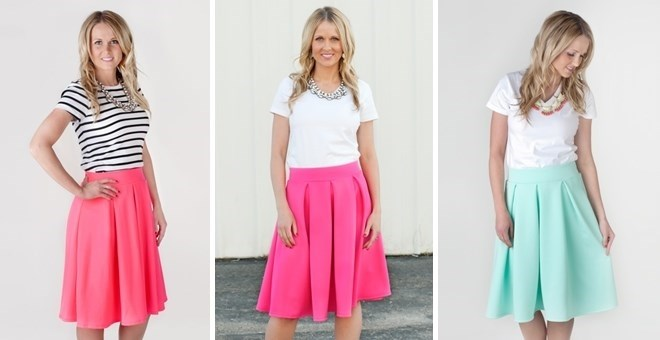 Spring A-line skirts - 7 Colors!