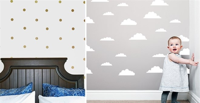 DIY Wallpaper Look Vinyl Decals