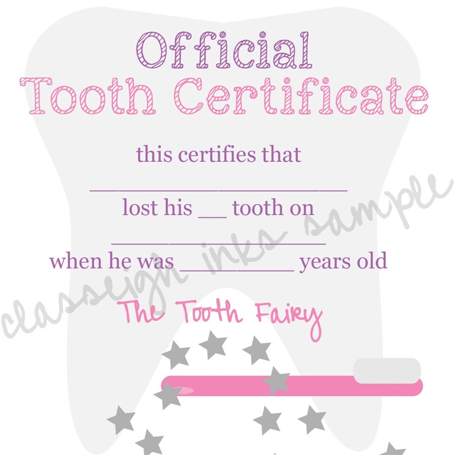Astounding image within tooth fairy notes printable